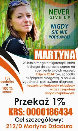 Wsparcie dla TynaTru - 1% dla Martyny